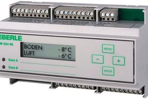 """Im Eismelder """"EM 524 90"""" von Eberle Controls sind zwei Regler integriert, die eine parallele und voneinander unabhängige Steuerung zweier Heizzonen möglich machen<br />"""