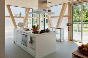 Die Küchenzone wird gemeinschaftlich genutzt.<br />