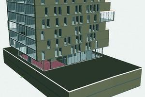 Das Gebäudemodell in verschiedenen Ansichten<br />