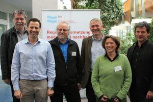 Der fbr-Vorstand zeigt sich hoch zufrieden mit der Fachgruppenarbeit (v.l.n.r.): Dr. Harald Hiessl, Torsten Grüter, Erwin Nolde, Martin Bullermann, Anja Schumann und Dr. Mathias Kaiser (nicht auf dem Bild: K. W. König)