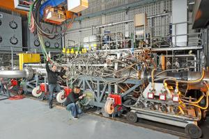 Die Leistung der Kühlturmanlage wird in verschiedenen Hochdruck-Brennkammer-Prüfständen (HBK) benötigt.