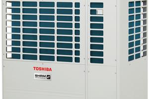 """Toshibas VRF-System """"SMMSe"""" wird durch das """"SHRMe"""" für gleichzeitiges Heizen und Kühlen, das es mit Nennkühlleistungen von 22,4 bis 56 kW gibt, ergänzt."""