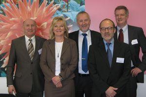 Der Vorstand des Forschungsrats Kältetechnik: Roland Handschuh, Monika Witt, Dr. Harald Kaiser, Axel Kriegsmann, Felix Flohr