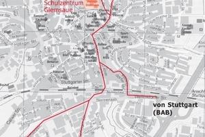 Lage des Schulzentrums in Ditzingen
