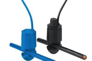Die Potentialabgriffe der Serie 855 sind mit Schneidklemmtechnik ausgestattet, so dass<br />ein isolierter Rundleiter werkzeuglos kontaktiert wird.