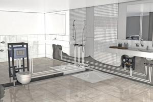 Die vorkonfektionierte Spülstation lässt sich in eine Ring- oder Reiheninstallation integrieren und sorgt für eine optimale Durchströmung.