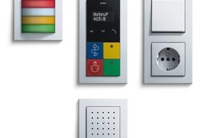 """Das Gira-Rufsystem """"834 Plus"""" ist ein Rufsystem zum Hilferuf und zur Kommunikation in Krankenhäusern, Pflegeheimen, Wohnanlagen und Arztpraxen<br />"""