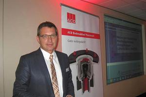 Manfred Freytag, Vertriebsleiter von ACO Deutschland, stellte das Unternehmen vor