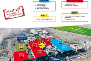 Die Aufteilung der Hallen zur IFH/Intherm 2014 nach einzelnen Bereichen