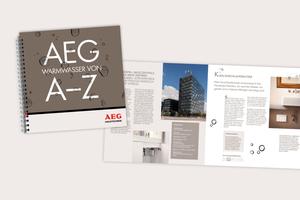 """Das Kompendium """"Warmwasser von A – Z"""" der AEG Haustechnik bietet als Planungs-Ratgeber Informationen rund um die Warmwaserbereitung in Gebäuden."""