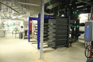 Fernkälteübergabestation in einer der beiden Technikzentralen