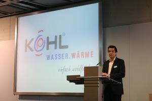 Albert Kohl berichtete anhand der Entwicklung des eigenen Unternehmens, wie ein erfolgreicher Weg, sich am Markt zu positionieren, beschritten werden kann<br />
