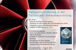 Zur Förderung des Nachwuchses verleiht die VDI-Gesellschaft Bauen und Gebäudetechnik den Albert-Tichelmann-Preis an Absolventen von Fachhochschulen und Universitäten für herausragende Arbeiten auf dem Gebiet der Technischen Gebäudeausrüstung.