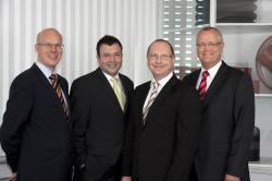 Das Bild zeigt von links: Frederik Lipskoch, Sebastian Bormann, Siegfried Schabos und Frank Schellhöh