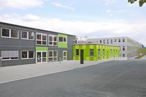 Außenansicht der Interimslösung für das Allgemeine Verfügungszentrum der Universität Osnabrück <br />