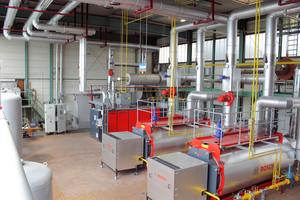 Die Heizzentrale im KSB-Werk Pegnitz liefert nach der Modernisierung eine energieeffiziente Wärmeversorgung für die Produktionshallen und Bürogebäude.