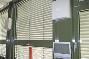 Mit Hilfe der Touch-Screen-Lösung lassen sich die Lüftungsgeräte in jedem Klassenraum bequem separat ansteuern<br />