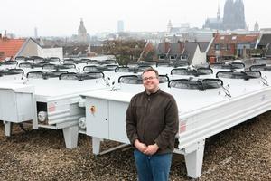 Bernhard Meis, Geschäftsführer der CliTech Service GmbH, des mit der Installation der Neuanlage beauftragten Fachunternehmens<br />