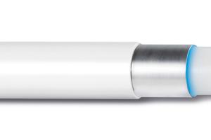 """""""Uni Pipe Plus"""" ist ein Mehrschichtverbundrohr, das sich durch seine nahtlos extrudierte Aluminiumschicht auszeichnet"""