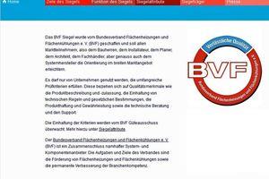 Der Bundesverband Flächenheizungen und Flächenkühlungen e. V. stellt sein neues Label auf einer eigenen Website vor. (Bild: Bundesverband Flächenheizungen und Flächenkühlungen e. V., Hagen)