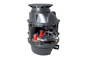 """Hybrid-Hebeanlagen wie """"Ecolift XL"""" sind für den Einsatz bei Gefälle zum Kanal konzipiert."""