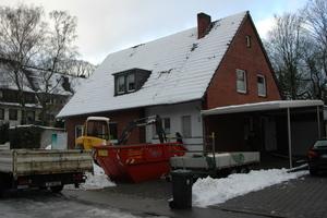Das Haus während der Bauarbeiten<br />