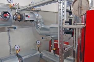 Durch einen ausreichenden Wandabstand der Kessel waren die Komponenten leicht zu installieren.