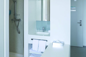 Auch in den Standardzimmern wurde der Badbereich optimal in den Raum integriert