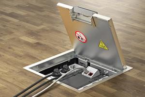 Die passenden Gerätebecher für die Installation von Energie-, Daten- und Multimediatechnik werden im Einsatzrahmen eingesetzt.