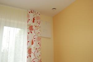 In den Zimmern wurde je ein Lüftungsgerät mit Wärmerückgewinnung installiert.<br />