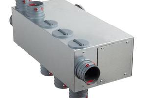 Universal-Luftverteiler für Rundrohre