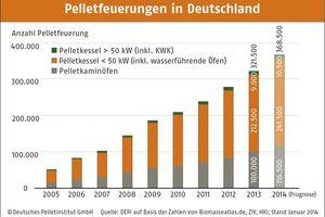 Pelletsfeuerungen in Deutschland (Zahlen für 2013)