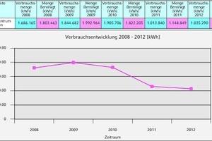 """<div class=""""grafikueberschrift"""">Grafische Darstellung von Verbrauch und Kosten</div><div class=""""grafikueberschrift""""><strong>Witterungsbereinigte Angabe in den Heizperioden 2008 bis 2012 (vor und nach Umstellung der Heiztechnik auf Hackschnitzel im Jahr 2010)</strong></div>"""
