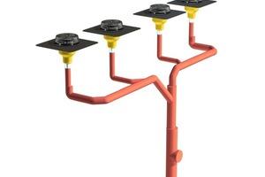T-Strang: Kürzere Leitungslänge – weniger Druckverlust:<br /> Daher können die Sammelleitungen kleiner dimensioniert werden, dies ist wirtschaftlicher und wirkt auch entlastend auf die Statik des Daches<br />
