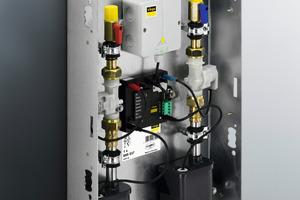 """Als werkseitig vormontierte und voreingestellte Einheit kann die Spülstation mit """"Hygiene+""""-Funktion in Kalt- und/oder Warmwasser-Installationen installiert werden<br />"""