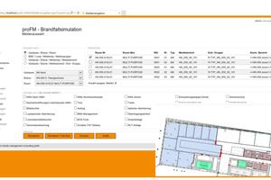 Auswahlmaske der Datenbank