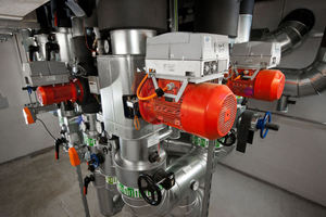 """Die Umwälzpumpen für die Versorgung der Heiz- und Kühlkreise sind mit der Pumpendrehzahlregelung """"PumpDrive"""" ausgerüstet<br /><br />"""