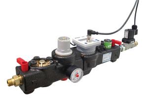 """Die """"Geno-therm""""-Füllarmatur automatisiert in der Ausführung """"Premium Plus"""" die Nachfüllung von aufbereitetem Wasser anhand einer voreinstellbaren Wassermenge und mit dem gewünschten Anlagenfülldruck."""