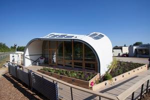 """Das """"Techstyle Haus"""" ein Gemeinschaftsprojekt der Rhode Island School of design, der Brown University sowie der Fachhochschule Erfurt"""