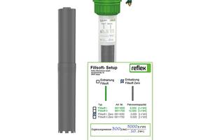 """Die Patronen von """"Fillsoft"""" und """"Fillsoft Zero"""" unterscheiden sich äußerlich lediglich in ihrer Farbe (Enthärtung = grün, Entsalzung = grau)."""