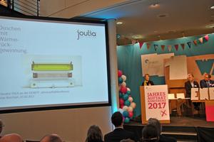 Der Publikumspreis ging an die Joulia SA für eine Duschrinne mit eingebautem Wärmetauscher.