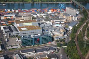 Luftbild vom Stammsitz von Werner & Mertz