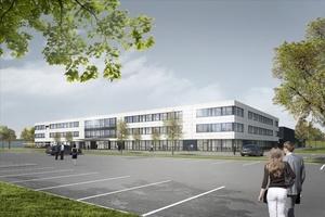 Der neue Hauptsitz der GOM GmbH im Braunschweiger Gewerbegebiet Rüningen (Bild: Goldbeck)