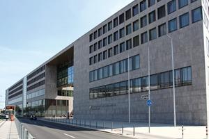 Der Neubau des Land- und Amtsgerichts Düsseldorf repräsentiert einen neuen Typus von Gerichtsgebäude<br />