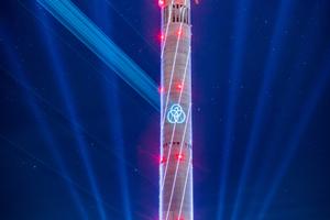 Zum Stand 1. September 2016 fährt ein Aufzug im Testturm. Dies ist der Feuerwehraufzug, der eine Spitzengeschwindigkeit von 4 m/s erreicht.
