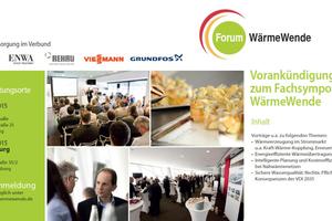 Das Fachforum Wärmewende findet am 23. Juni 2015 in Nürnberg und am 24. Juni 2015 in Ludwigsburg statt.