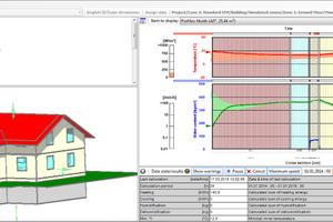 """Screenshot des Gebäudesimulationsprogramms """"WUFI Plus"""": """"WUFI"""" leitet sich ab aus dem Begriff """"Wärme Und Feuchte Instationär"""".<br />"""