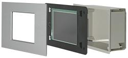 """Der Award in der Kategorie """"bestes Produktdesign"""" wurde an die Elka-Elektronik GmbH für das Anzeige- und Bedientableau Minitableau """"MT701 colour touch"""" LON verliehen"""