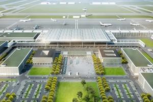 Airport City 2012: Bis zur Eröffnung des neuen Hauptstadt-Flughafens entstehen in der Airport City ein terminalnahes Parkhaus, drei weitere Parkhäuser, ein Mietwagencenter, ein Vier-Sterne-Hotel sowie ein Büro- und Dienstleistungszentrum<br />