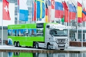 Mit dem Demo Truck Metallbau unterstützt die Schüco International KG die Brandschutzexperten von Schlentzek & Kühn auf dem 'business to dialog' in Berlin